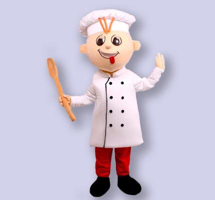 Bäcker Jungen Kostüm Maskottchen Herstellung