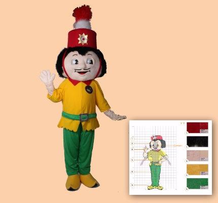 Tschä Hoile Karnevals Kostüm Maskottchen